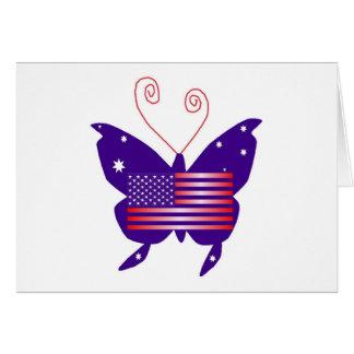Borboleta americana da diva cartão comemorativo