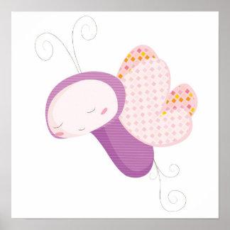Borboleta animal dos bebês poster