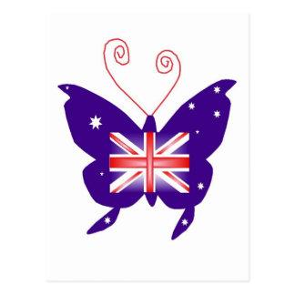 Borboleta britânica da diva cartao postal