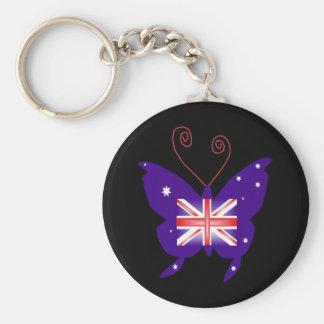 Borboleta britânica da diva chaveiros