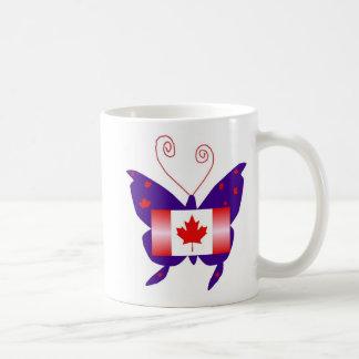 Borboleta canadense da diva canecas