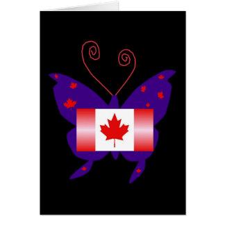 Borboleta canadense da diva cartões