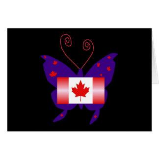 Borboleta canadense da diva cartoes