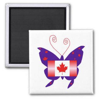 Borboleta canadense da diva imã