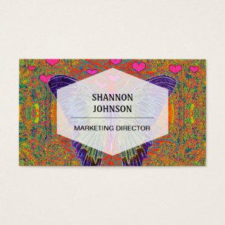 Borboleta colorida cartão de visita