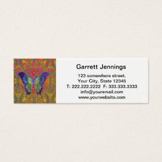 Borboleta colorida cartão de visita skinny