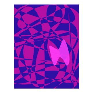 Borboleta cor-de-rosa modelo de panfletos