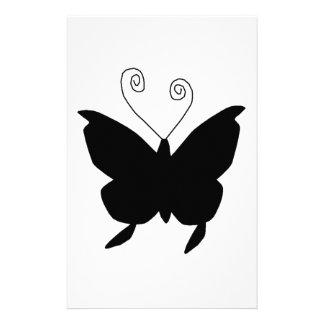 Borboleta da diva no preto papel personalizados