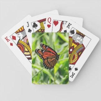 Borboleta de monarca em vôo jogo de baralho