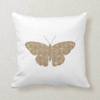 Borboleta do brilho do ouro com a listra branca e travesseiros