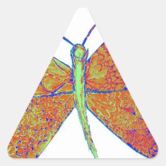 Borboleta do coração de Neverland Adesivo Triangular