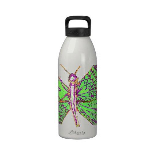 Borboleta do coração garrafas de água esportivas