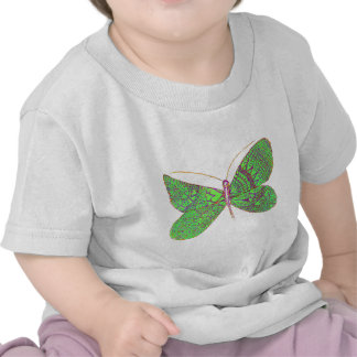 Borboleta do coração camisetas