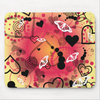 Borboleta do coração - tapete do rato mousepads