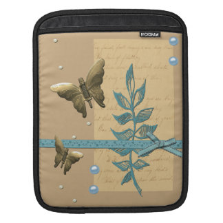 Borboleta do metal de Steampunk Bolsa Para iPad