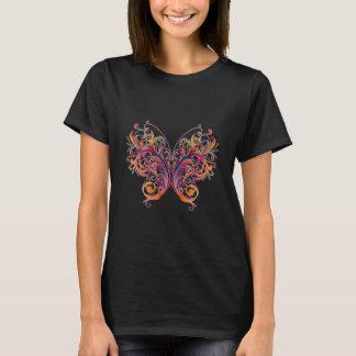 Borboleta floral abstrata tshirt