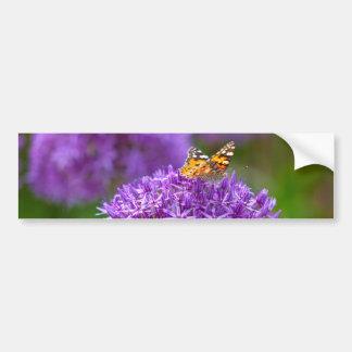 Borboleta na flor do Allium Adesivo Para Carro