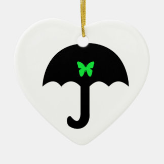 Borboleta no guarda-chuva ornamento de cerâmica