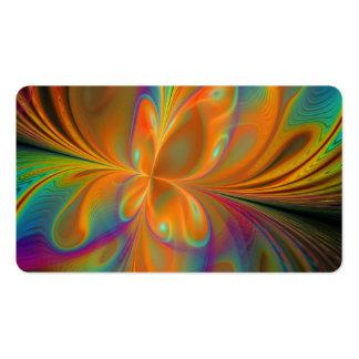 Borboleta vibrante abstrata do Fractal Cartão De Visita