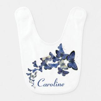 Borboletas azuis bonito vôo curvado, nomeado babador