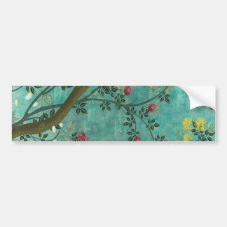 Borboletas bonitas da árvore da flor da antiguidad adesivo para carro