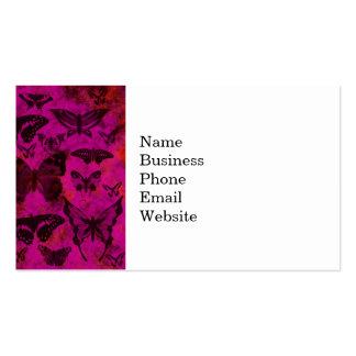 Borboletas bonito do rosa quente e da laranja cartão de visita