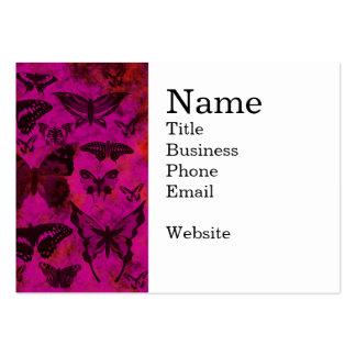 Borboletas bonito do rosa quente e da laranja cartão de visita grande