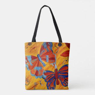 BORBOLETAS/borboleta - alaranjada & azul - bolsa