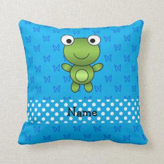 Borboletas conhecidas personalizadas do azul do travesseiro