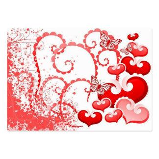 borboletas dos corações e de COM do imagem Cartoes De Visitas