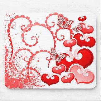 borboletas dos corações e de COM do imagem