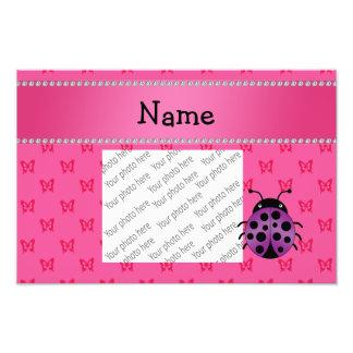 Borboletas roxas conhecidas personalizadas do rosa arte de fotos