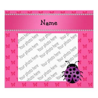 Borboletas roxas conhecidas personalizadas do rosa foto