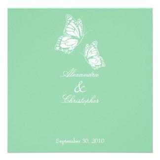 Borboletas simples do verde da hortelã que Wedding