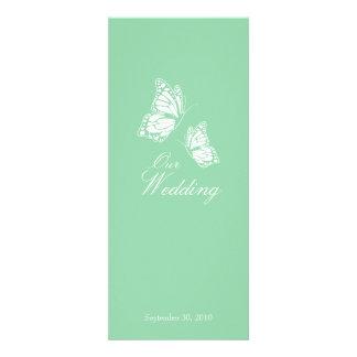 Borboletas verdes simples que Wedding o anúncio 2