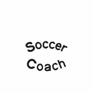 Bordado do treinador do futebol camisa polo