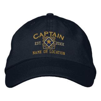 Bordado náutico personalizado do capitão de mar boné bordado