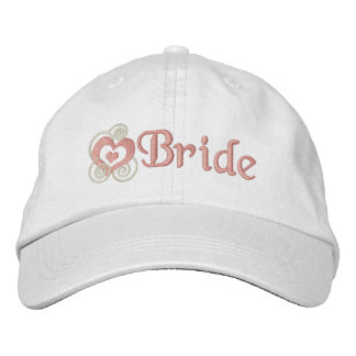 Bordado nupcial da noiva chapéus bordados