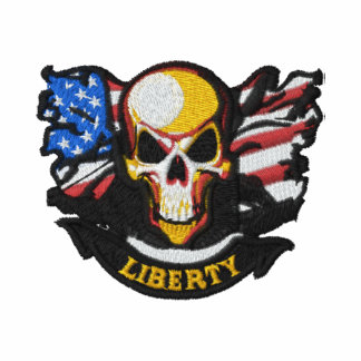 Bordado patriótico camiseta bordada polo