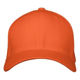 Borde seu próprio boné de lãs de Flexfit da laranj