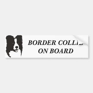 Border collie a bordo adesivo para carro