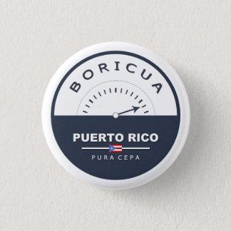 Boricua de Pura Cepa: Puerto Rico: Pin Bóton Redondo 2.54cm