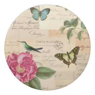 Borracha Eliminador floral feminino do vintage com pássaro