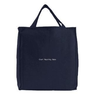 Borracho bordado costume do relatório da corte do bolsas para compras