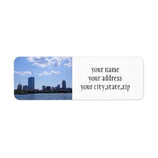 Boston do Charles River Etiqueta Endereço De Retorno