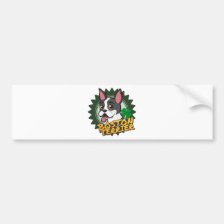 Boston Terrier com um trevo de quatro folhas Adesivo Para Carro
