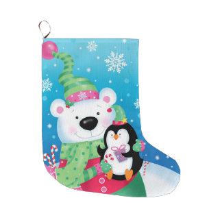 Bota De Natal Grande Estoque polar dos amigos