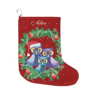 Bota De Natal Grande Vermelho personalizado da grinalda da família da