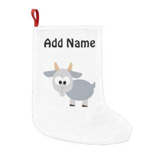 Bota De Natal Pequena Cabra cinzenta adorável