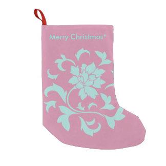 Bota De Natal Pequena Flor oriental - Feliz Natal - rosa